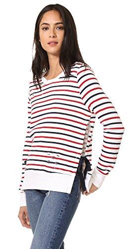pam-gela-womens-stripe-print-fleece-red-blue-stripe-small