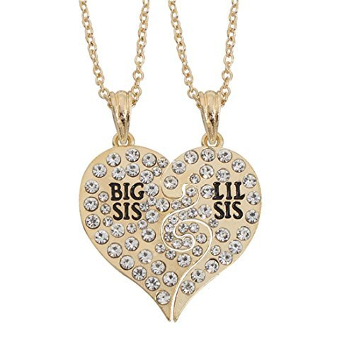 San Francisco dc426 4691b Hermanas collar Set Lil Sis Big Sis collares Little Big ...