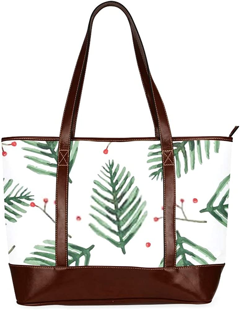 Tote Bags Watercolor Floral Seamless Pattern Vector Illustration Travel Totes Bag Fashion Handbags Shopping Zippered Tote For Women Waterproof Hand