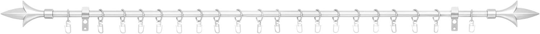 Vorhangstange //-Halter aus Metall schwarzer Gardinenhalter Royale Dekoration Lichtblick Gardinenstange Lilie 16 mm /Ø ausziehbar von 150-265 cm