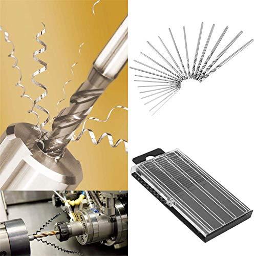 CHLZYD Mini 20 pcs Mini Micro HSS High Speed Steel Twist Drill Set Model 0.3mm-1.6mm by CHLZYD (Image #4)