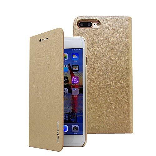 HOMOSA iPhone 7 Plus Flip Case (Golden)