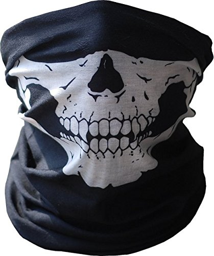 Cycling ® Unique Stretchable Windproof Black Tribal Classic Skull Soft Polyester Half Face Mask Snowboard Snowmobile Snow Ski Facemask Headwear New