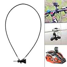 Fantaseal® Plastic Coated Stainless Steel Rope Kit for GoPro Lanyard Bundle GoPro Safety Tether Cable Cord Wire Accessories Kit w/ Long Screw +Wrench for GoPro Hero / Session + SJCAM + Garmin Virb XE + Xiaomi Yi+SonY + More (60cm)