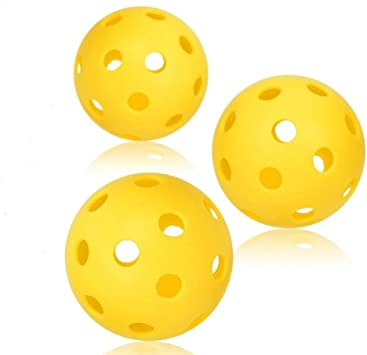 Pickleball bolas – profesional patentado 26 agujero diseño de 3 ...