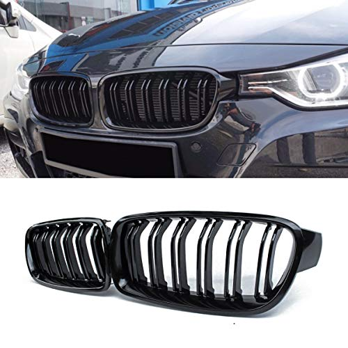 2016 Bmw 328 Series - Front Grille/Grilles Kidney Grille Replacement for BMW 3 Series F30 F31(ABS, Gloss Black)