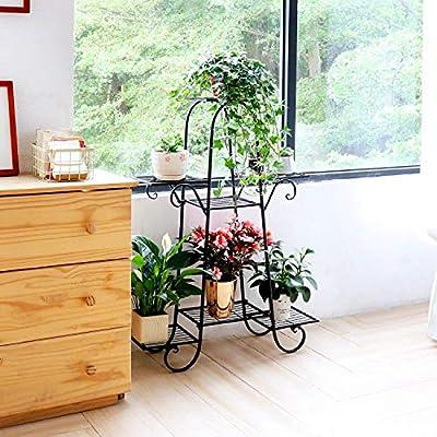 7 Tier Plant Stands Indoor Metal Plant Shelf Stand Outdoor Multilayer Potted Planters Display Rack Patio Garden, Size: 66 x 22 x 102cm : Garden & Outdoor