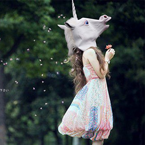 Halloween Costumes Unicorn /Horse Head Mask for Cosplay /Party Costumes/ Halloween/Thanksgiving Day/Birthday (Masquerade Costumes Ebay)
