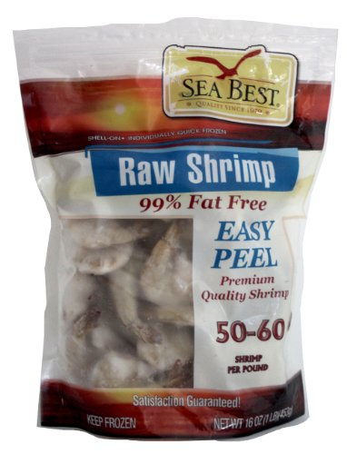Sea Best 51/60 EZ Peel Shrimp, 16 Ounce