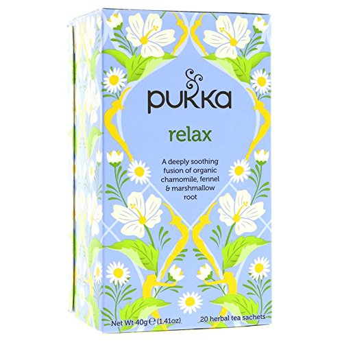Puka Herbal Teas 1164458 Relax Caffeine Free 20 Bags Single Pack