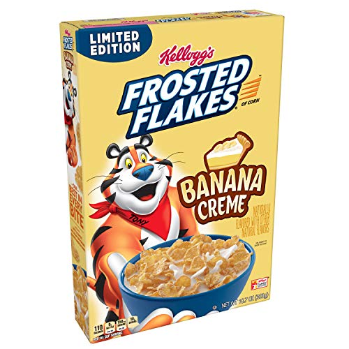 Frosted Flakes, Breakfast Cereal, Banana Crème, An Excellent Source of 7 Vitamins and Minerals, 10.7 Ounce -