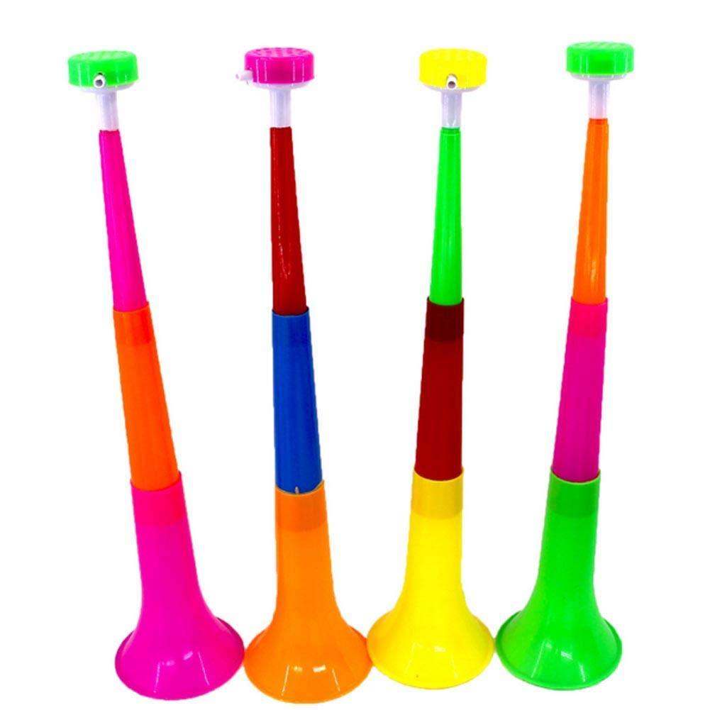 Bocina de f/útbol para ni/ños ShengJ Vuvuzela Color al Azar Tres Secciones