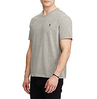 d512a9712f78 Image Unavailable. Image not available for. Color  Polo Ralph Lauren Men s  Grey Classic-Fit V Neck T-Shirt ...