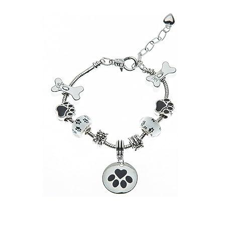 e14d97700b7f9 Infinity Collection Dog Charm Bracelet - Paw Print Jewelry- Dog Lovers  Bracelet- Dog Owner Bracelet for Dog Lovers
