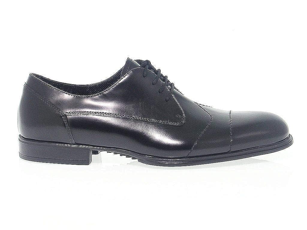 - CESARE PACIOTTI Men's PAC51319 Black Leather Lace-Up shoes