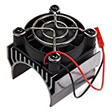 SkyQ Aluminum Electric Heatsink with 4.8-6V Cooler Cooling Fan for 1/10 RC Car 540/550 Size Motor Gray