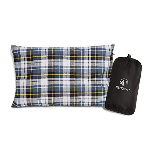 REDCAMP-Outdoor-Camp-Camping-Pillow-Lightweight-Flannel-Travel-Pillow-Cases-Removable-Pillow-Cover