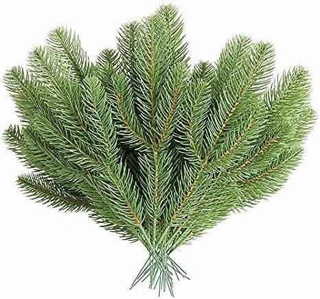 30PCS Christmas Pine Picks Pine Greenery Stems Pine Needles for Decoration