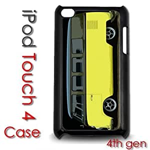 IPod Touch 4 4th gen Touch Plastic Case - Yellow VW Bus Slammed Black Top