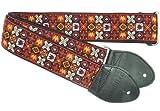 Souldier GS0295BK02BK Custom USA Handmade Woodstock Electric Guitar Strap - Red/Black