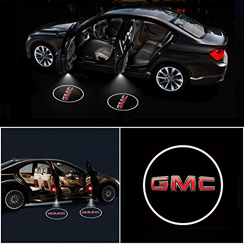 Auto Accessories Led - IHEX Auto 4pcs for GMC Accessory Wireless Car Door Led Welcome Laser Projector Car Door Courtesy Light Suitable for Savana Sierra Yukon