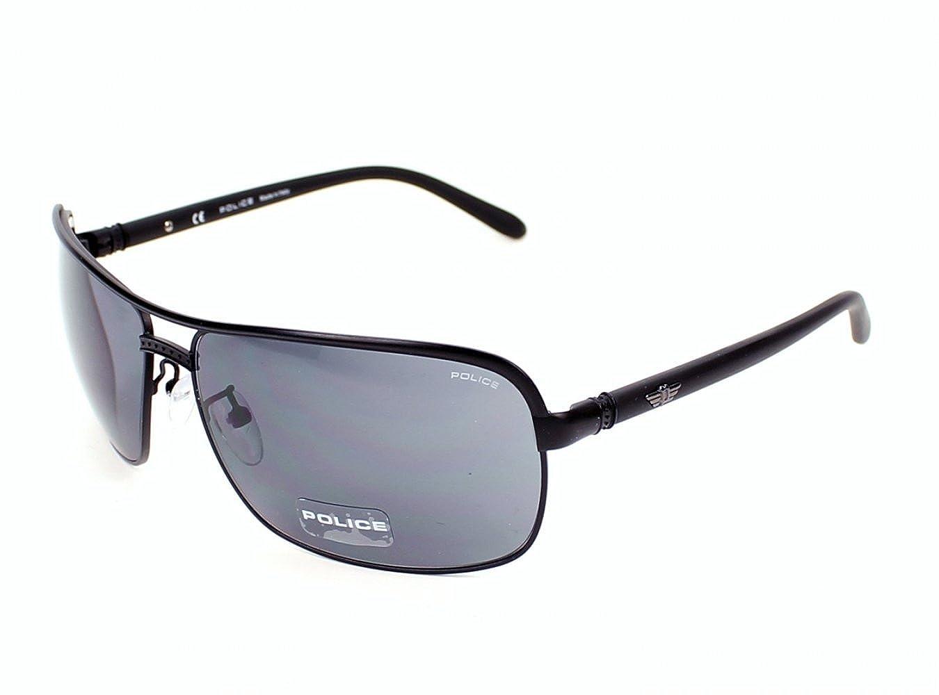 8fc97768d4 Police sunglasses S 8852 0531 Metal Matt Black Grey  Amazon.co.uk  Clothing