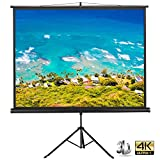 Yaheetech Portable Indoor Outdoor Projector Screen, 84 Inch Diagonal Projection HD 4:3 Projection Pull Up Foldable Stand Tripod,for Home Theater Cinema Party Office Presentation