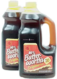 Mrs. Butterworth's original syrup, Thick-n-Rich!,64 fl oz Jug,pack of 2