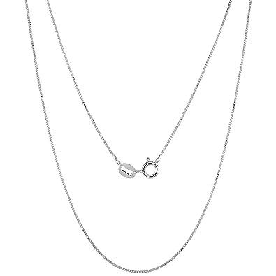 Bling Jewelry 0.8mm Very Thin Sterling Silver Italian Box Chain Necklace lRYKqeGzu