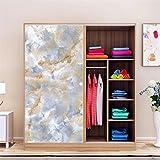 AmazingWall Marble Sticker Wall Decor Living Room Bedroom Kitchen Tiles Decorative Decal Wallpaper 23.62x70.87''