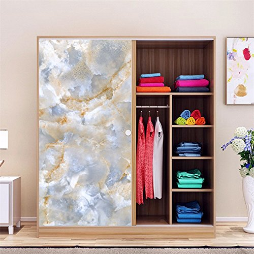 AmazingWall Marble Sticker Wall Decor Living Room Bedroom Kitchen Tiles Decorative Decal Wallpaper 23.62x70.87'' by AmazingWall