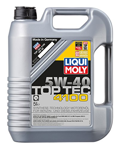 Liqui Moly (2330) 5W-40 Top Tec 4100 Low Ash Synthetic Motor Oil - 5 Liter Jug