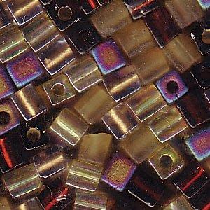 Miyuki 4mm Glass Cube Beads Color Mix Wheatberry Browns Ambers 10 ()