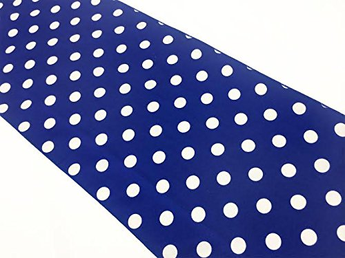 ArtOFabric Our Decorative Polka Dot Cotton Table Runner in 12x72 Inches - Royal Blue