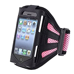 eForCity? Deluxe Armband Compatible With Apple? iPhone? 4 - Version iPhone? 4S - AT&T, Sprint, Version 16GB 32GB 64GB, Black Light Pink