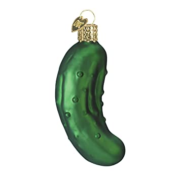 Old World Christmas Pickle Glass Blown Ornament - Amazon.com: Old World Christmas Pickle Glass Blown Ornament: Home