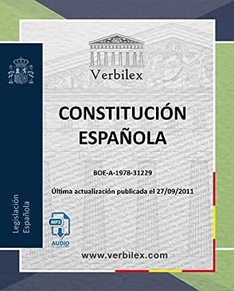 Constitución Española.: Audio descargable en MP3. www.verbilex.com eBook: AudioLegislación, Verbilex: Amazon.es: Tienda Kindle