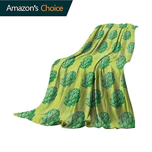 Cheap Artichoke Weighted Blanket Adult Field of Healthy Organic Artichokes Greens Vegan Vegetarian Way Super Soft Light Weight Cozy Warm Plush Hypoallergenic Blanket 60