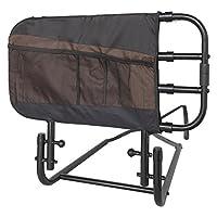 Stander EZ Adjust and Pivoting Manija de cama para adultos /Asa giratoria de colgar hacia abajo con bolsa