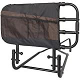 Stander EZ Adjust and Pivoting Adult Home Bed Rail/Swing Down Assist Handle with Pouch
