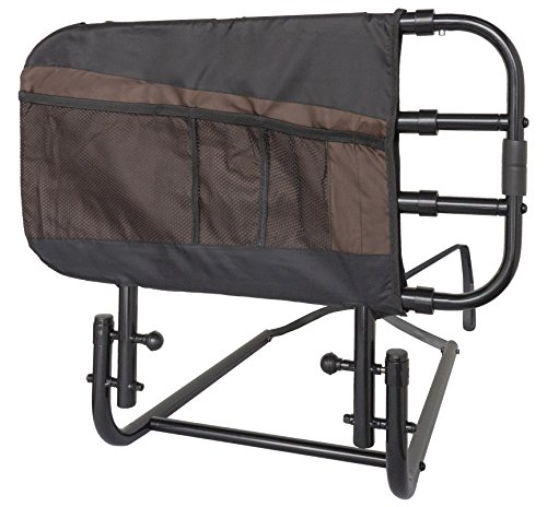 Stander EZ Adjust Bed Rail for Elderly Adults, Home Bed Railing & Assist Handle Folds Down and Extends in Length from Stander