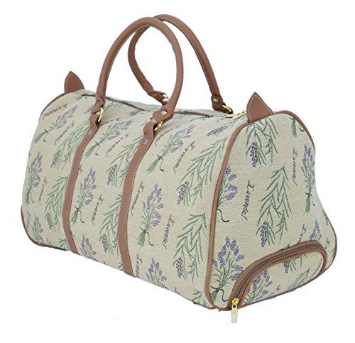 Trolley Lavendel Reisetasche aus Web-Stoff Gobelin Signare Tapisserie Bowatex