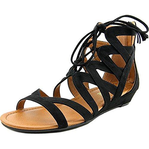 MADELINE girl Women's, Saturate Gladiator Sandals Black 9 M ()
