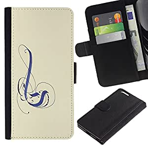 Billetera de Cuero Caso del tirón Titular de la tarjeta Carcasa Funda del zurriago para Apple Iphone 6 PLUS 5.5 / Business Style Purple Art