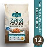 Rachael Ray Nutrish Zero Grain Natural Dry Dog Food, Grain Free Salmon & Sweet Potato Recipe, 12 Lbs