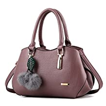 Women Handbag,Ladies purses,Lucky Gourd Small Size Tote Vintage Crossbody-bags with Furry Pom Pom ball