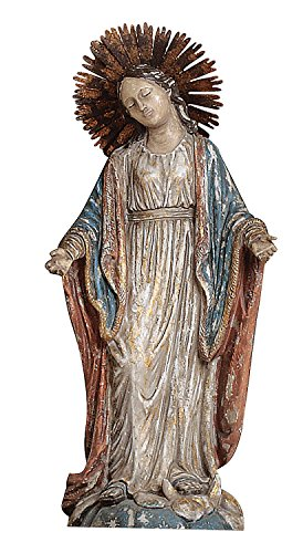 (Creative Co-op Resin Virgin Mary Statue)