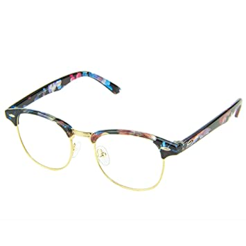 cfc606b8cc2 Amazon.com  Cyxus Blue Light Filter Semi-Rimless Glasses