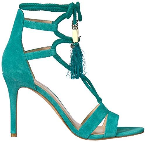 Nine West Women's Mangalara Suede Dress Sandal Dark Turquoise hLfFAZOU