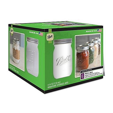 Ball Glass Mini Storage Jars (Set of 4)